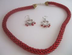 Kumihimo Necklace Set by FranksStudio on Etsy, $37.00