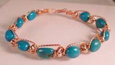 Wire Wrapped Braided STONE Bracelet