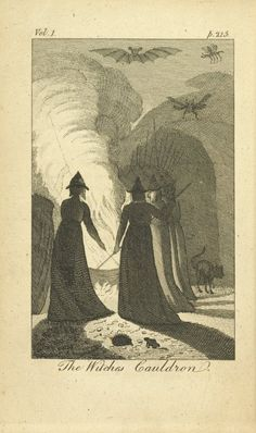 The 3 witches are standing around the cauldron while Macbeth approaches. They chant every ingredient they drop in to each other. Macbeth demands for the witches to answer his question. The witches use apparitions to give Macbeth what he desires!