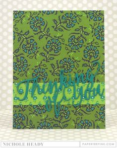 Thinking Of You Card by Nichole Heady for Papertrey Ink (June 2016)
