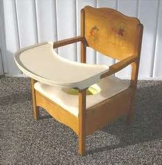 Image detail for -Vintage Wooden Child's Potty Chair with Removable Tray and Pot