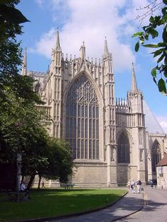 York Minster - York, England.  England's largest medieval church. Must see. This church looked SO OLD.