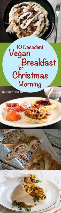 10 Decadent Vegan Breakfasts to Dig Into on Christmas Morning 10 rich, filling and celebratory vegan breakfast options to power you up for Christmas morning. Vegan Foods, Vegan Dishes, Vegan Vegetarian, Vegetarian Recipes, Vegan Breakfast Options, Breakfast Ideas, Whole Food Recipes, Cooking Recipes, Free Recipes