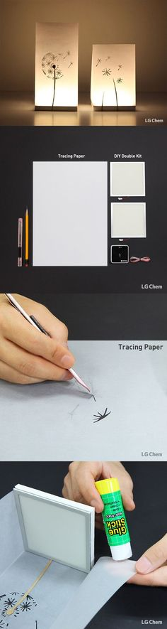 Ever made a lamp out of paper? Explore the possibilitis of the Oled DIY Kit by LG Display.