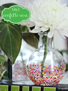 Hi Sugarplum | DIY Anthropologie Style Confetti Vase