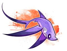 love this Pelagic Thresher -by squeedgemonster Creature Concept Art, Creature Design, Animal Sketches, Animal Drawings, Fantasy Creatures, Mythical Creatures, Cartoon Drawings, Cool Drawings, Shark Art