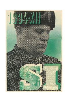 """1934 г. """"Муссолини - Да!"""" Фотомонтаж Xanti Schawinsky."""