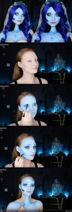 Creepy Corpse Bride, done all in makeup and body paint! youtube.com/madeyewlook