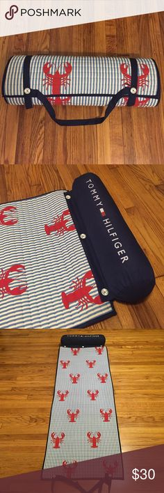 Tommy Hilfiger Lobster Beach Mat Never used, Quilted mat with detachable pillow, button closure, no rips, snags or stains Tommy Hilfiger Other