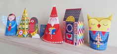 Christmas Paper craft Angel Owl Festive house by EllenGiggenbach