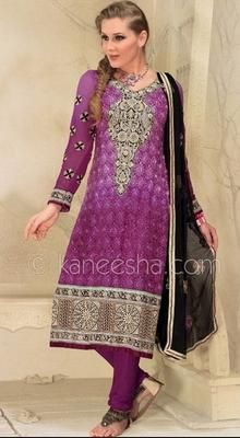 Charming Purple Shaded Suit