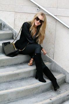 #black on black #fashion