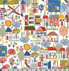 1 yard Village Green - Carolyn Gavin -  P & B Textiles - Lilla Rogers Studio - SKU VGRE 571 MU