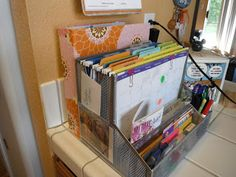 bill/mail organizer. Similar to the one I have set up on my desk at work.