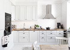 кухня белая фото