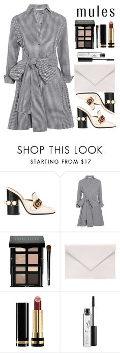 """""""Mules"""" by msbeaunda ❤ liked on Polyvore featuring Gucci, Maje, Bobbi Brown Cosmetics, Verali and MAC Cosmetics"""