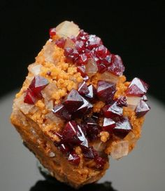 Cuprite with Dolomite and Calcite - Tsumeb, Namibia / Mineral Friends <3