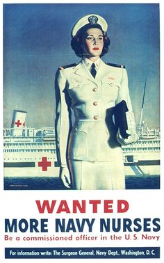Wanted More Navy Nurses - Circa 1943