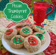 Pecan Thumbprints  http://www.southernplate.com/2014/11/pecan-thumbprint-cookies.html