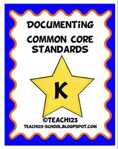 Kindergarten COMMON CORE STANDARDSMake your life easier with this documenting packet. The packet includes: *Language Arts Teacher checklist...