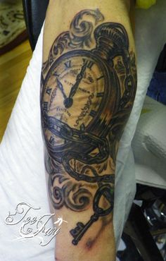 A pocket watch tattoo is something that I have been thinking about getting to memorialize my grandpa and having the hands set to his birthday.  I think it would be beautiful.