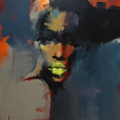 Thembi by Peter Pharoah  An original artwork of an African woman, the series represents the merging of the old with the new... PRINTS AVAILABLE Peter Pharoah Artwork available at Bespoke by Eddie da Silva #art #peterpharoah