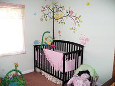Nicole's customized nursery with Scroll Tree wall decals