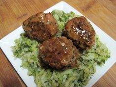 Dukan Diet Recipe Meatballs with Gravy and Broccoli-Cauliflower Mash