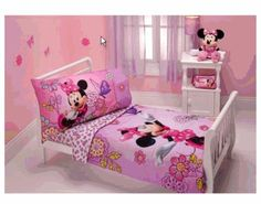 Amazon.com : Minnie Mouse - Flower Garden 4-piece Toddler Bedding Set : Minnie Mouse Toddler Beddng : Baby