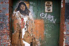pasteup by street artist swoon, brooklyn 2009, photo by luna park, via flickr #art #streetart #swoon #2009 #brooklyn #nyc #newyork