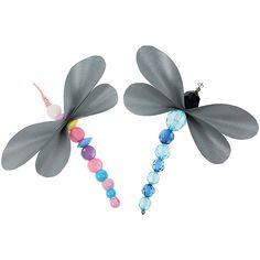 Sudenkorento-heijastimet on valmistettu heijastinnauhasta ja helmistä.