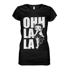 King of Merch - Damen T-Shirt - Betty Boop Ohh La La V-Ausschnitt Cartoon Max Fleischer Classic Comic Helen Kane Sex Symbol Schwarz S King http://www.amazon.de/dp/B01B332Z6O/ref=cm_sw_r_pi_dp_Jy1Rwb0YEHJH9