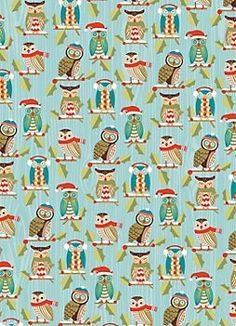 Holiday Owls Wrapping Paper