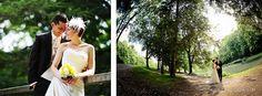 Hochzeitsportarits im Grünen