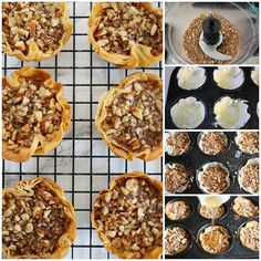 No time for the traditional baklava recipe or maybe you want a small batch? This Easy Baklava Recipe is perfect for that! Mini Desserts, Dessert Recipes, Greek Desserts, Peach Freezer Jam, Chocolate Pie With Pudding, Caramel Cupcakes, Different Recipes, Sweet Bread, Healthy Eating Recipes