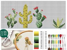 We embroider cacti on a cloth - Cross stitch for embroidering cacti Best Picture For Cactus aesthetic For Your Taste You are look - Embroidery Art, Cross Stitch Embroidery, Cross Stitch Patterns, Cactus Drawing, Cactus Art, Cactus Plants, Hobbies And Crafts, Fun Crafts, Embroidered Cactus