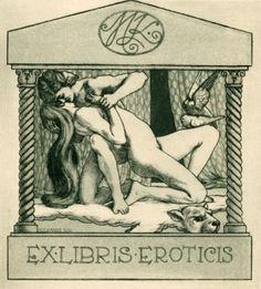 EX LIBRIS BOOKPLATE EROTICO n 4