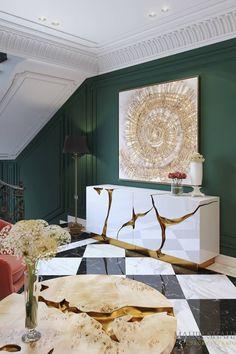 Hallway Inspiration, Home Decor Inspiration, Hall Furniture, Luxury Furniture, Contemporary Hallway, Hall Design, Interior Decorating, Interior Design, Marble Floor
