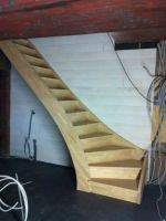 Interior wooden stairs, made of solid oak or beech wood. Solid wood interior stairs made to order according to the requested size and model. Glass Stairs, Concrete Stairs, Wooden Stairs, Modern Stair Railing, Staircase Design, Stair Kits, Stair Makeover, Floating Staircase, Interior Stairs