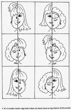 puzzle hlava dievča