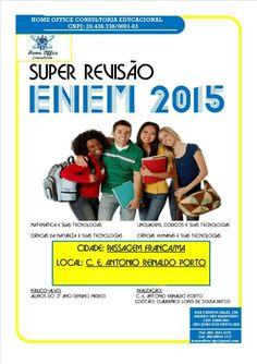 Revisão #ENEM2015 no CE Antonio Reinaldo Porto, de Passagem Franca