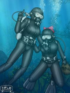 Tight Suit, Skin Tight, Illustrations And Posters, Scuba Diving, Latex, Bodysuit, Cartoon, Comics, Anime
