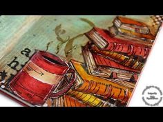 Step by step video on creating an art journal layout featuring Tim Holtz supplies! Blog: http://www.clips-n-cuts.com/2015/03/spotlight-tim-holtz-day2/ ——— S ...