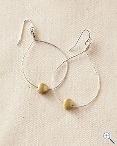 Garnet Hill - Ava Tear Drop Earrings
