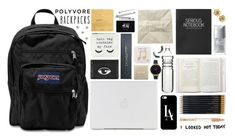 """""""Rule School: Cool Backpacks"""" by xo-kallio ❤ liked on Polyvore featuring Dot & Bo, Casetify, Topshop, Forever 21, Sloane Stationery, Kenzo, JanSport, Christian Dior, Dogeared and H&M"""