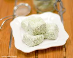 Healthy Matcha Green Tea Coconut Fudge: 4C Cottage Cheese (room temperature), 1t Vanilla Extract, 2¼C Sweetener of choice, 2T Matcha Powder, ⅓C Coconut Butter (melted), ¼C Psylliulm Husks, ¾C Shredded Unsweetened Coconut