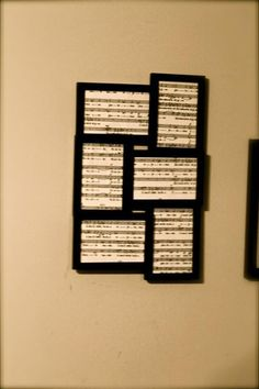I have this frame, must add sheet music to some of my favorite hymnals! LOVE THIS!