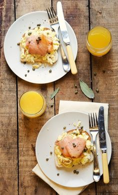 Egg, Salmon, Caper Toast