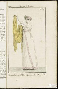 Gravure de Costume parisien. http://www.europeana.eu/portal/record/2048208/JDDEDM_jaargang_11_18070220_003_jpg.html