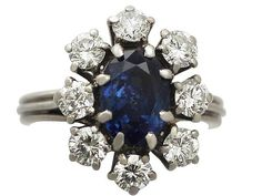 'Sapphire Cluster Ring - Vintage Circa 1960'